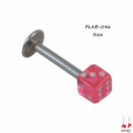 Piercing labret dé rose acrylique