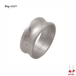 Bague anneau argenté love en acier chirurgical