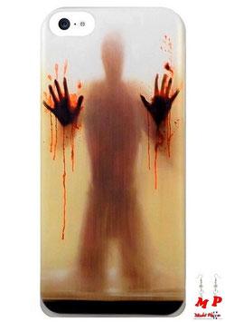 Coque iPhone 5c horreur - Homme aux mains pleines de sang