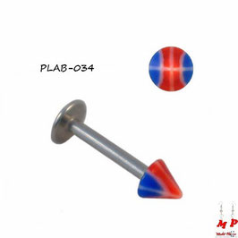 Piercing labret Spike ballon de basket