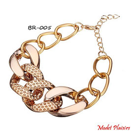 Parure collier et bracelet à gros maillons