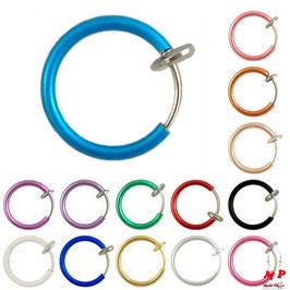 Faux piercing anneau à ressort pour lèvres, labret, nez et oreilles
