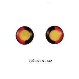 Boucles d'oreilles acier logo drapeau aborigène