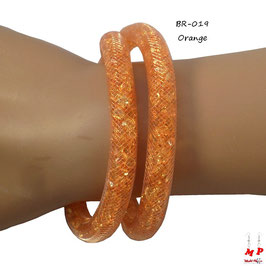 Bracelet double Stardust orange