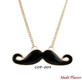 Collier sautoir à moustache noire