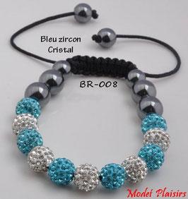 Bracelet shamballa deux couleurs et hématites