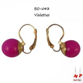 Boucles d'oreilles rondes bonbons pendants