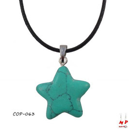 Collier à pendentif étoile en pierre turquoise