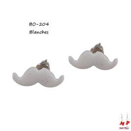 Boucles d'oreilles moustaches