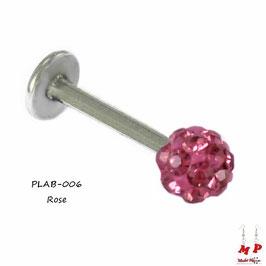 Piercing labret shamballa rose
