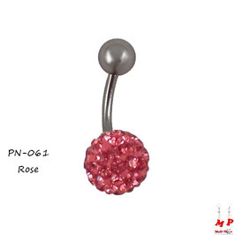 Piercing nombril shamballa rose
