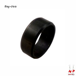 Bague anneau noir en acier chirurgical