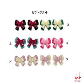 Boucles d'oreilles noeuds papillons acrylique
