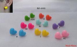 Boucles d'oreilles coeurs fluos