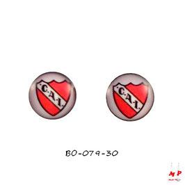 Boucles d'oreilles acier logo Club Atlético Independiante