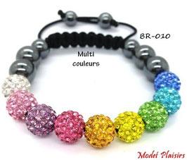 Bracelet shamballa multicouleurs