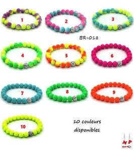 Bracelets élastiques et perles fluo