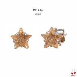 Boucles d'oreilles étoiles en strass 8mm 8 couleurs
