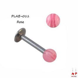 Piercing labret boule acrylique rayée