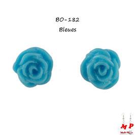 Boucles d'oreilles fleurs de roses