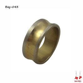Bague anneau homme doré et argenté en acier chirurgical