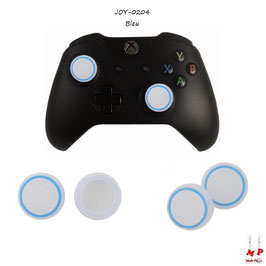 Grips de protection blancs translucides à cercles colorés pour joysticks