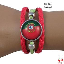Bracelet drapeau du Portugal
