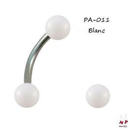 Piercing arcade boules acrylique unicolores