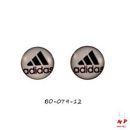 Boucles d'oreilles acier logo Adidas