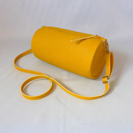 Duffle bag Plissee yellow with Zebra
