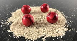 Perlen rot meliert
