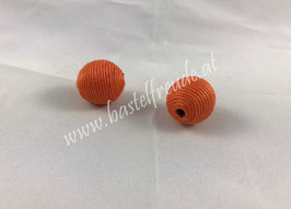 Wachsschnur Perlen orange
