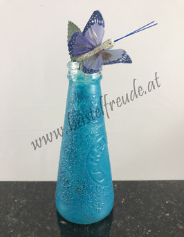 Glas blau