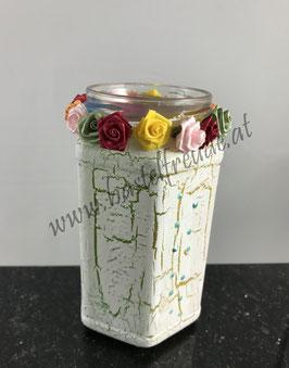 Glas bunt Rosen