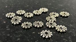 Schneeflocke Blume antiksilber