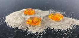 Perlen viereckig orange