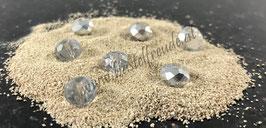 Perlen facettiert glassilber
