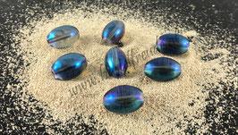 Perle oval blau