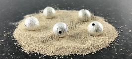 Sternenstaub Perlen versilbert matt