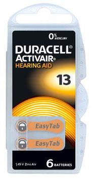 Pile   Duracell Activair  13 PR48 per apparecchi acustici
