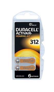 Pile   Duracell Activair  312  PR41 per apparecchi acustici