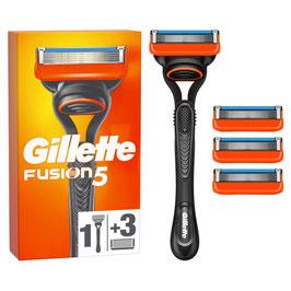 Confezione  rasoio + 3 ricambi Fusion Gillette