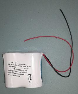 Pacco batterie Litio 2 x D   7,2V      con cavi