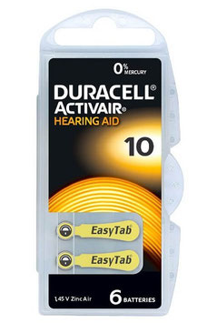Pile Duracell Activair  10 PR70 per apparecchi acustici