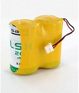 Pacco batterie  SAFT D 2LSH20  con connettore compatibile   antifurti TECNOALARM