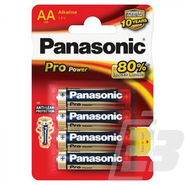 Blister da 4 pile   STILO AA ALCALINA  1,5V   PANASONIC PRO POWER