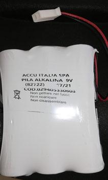 Pacco batterie alcaline 9V   BAT 1010   compatibile con allarmi  Silentron