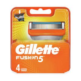Confezione 4 ricambi Fusion Gillette