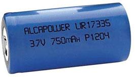 Batteria Li-ION ricaricabile CR123 (17335) 3,7V  750 mAH    ALCAPOWER