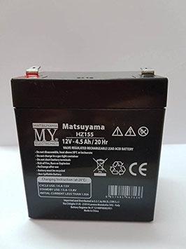 Batteria ricaricabile al piombo  12V   4,5Ah Matsuyama